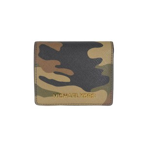 73be9f02385b94 MICHAEL Michael Kors Jet Set Travel Camouflage Saffiano Flap Card Holder  Duffle